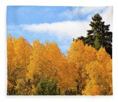 Autumn In The Owyhee Mountains Fleece Blanket