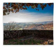 Autumn In The Southern Harz Fleece Blanket