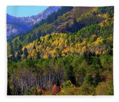 Autumn In Utah Fleece Blanket