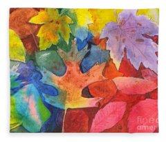 Autumn Leaves Recycled Fleece Blanket