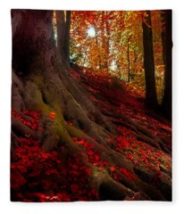 Autumn Light Fleece Blanket