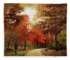 Autumn Maples Fleece Blanket