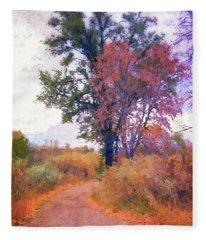 Autumn Melancholy Fleece Blanket