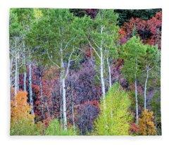 Autumn Mix Fleece Blanket