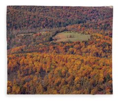 Autumn Mountain Side Fleece Blanket