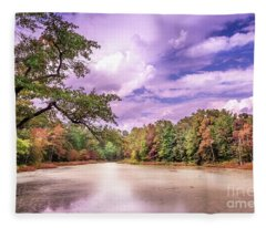 Autumn On A Chesapeake Bay Pond Fleece Blanket