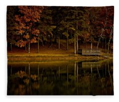 Autumn On The Lake Fleece Blanket