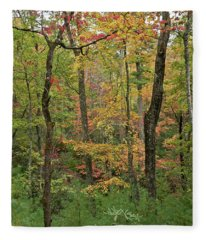 Autumn Palette Fleece Blanket