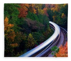 Autumn Rails Fleece Blanket