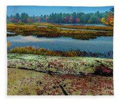 Autumn Rain 2 Fleece Blanket