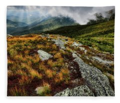 Autumn Rays, Mt Washington Nh Fleece Blanket