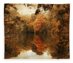 Autumn Reflected Fleece Blanket