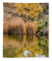 Autumn Reflection At Boyce Thompson Arboretum Fleece Blanket