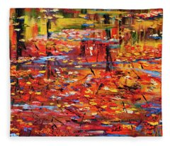 Autumn Reflections Fleece Blanket