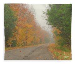 Autumn Roads Fleece Blanket