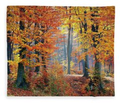 Autumn Splendour Fleece Blanket