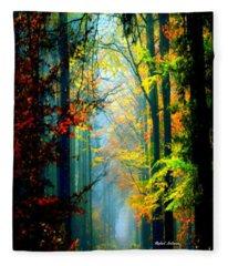 Autumn Trails In Georgia Fleece Blanket