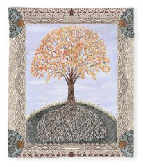 Autumn Tree Of Life Fleece Blanket