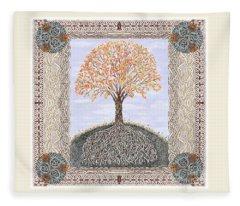Autumn Tree Of Life Fleece Blanket