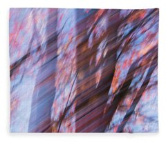 Autumn Trees Fleece Blanket