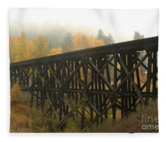 Autumn Trestle Fleece Blanket