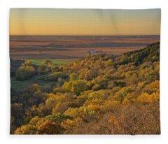 Autumn View At Waubonsie State Park Fleece Blanket