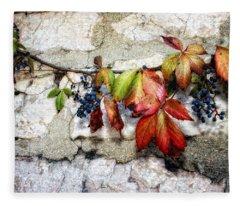 Autumn Vines Fleece Blanket