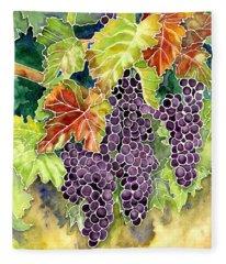 Autumn Vineyard In Its Glory - Batik Style Fleece Blanket
