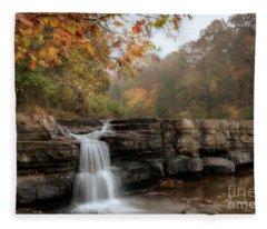 Autumn Water Fleece Blanket