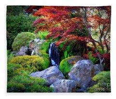 Autumn Waterfall Fleece Blanket