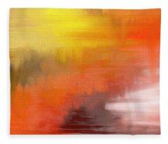 Autumnal Abstract  Fleece Blanket