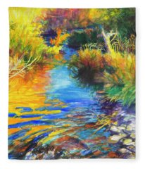 Autumnal Reflections Fleece Blanket