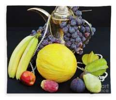 Autumnal Symphony Of Forbidden Fruits Fleece Blanket