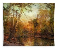 Autumnal Tones Fleece Blanket