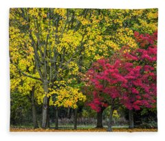 Autumn's Peak Fleece Blanket