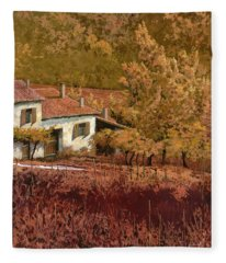 Autunno Rosso Fleece Blanket