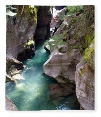 Avalanche Creek Glacier National Park Fleece Blanket