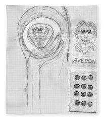 Avedon Master Of The Lens Fleece Blanket