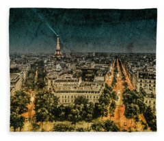 Paris, France - Avenue Kleber Fleece Blanket