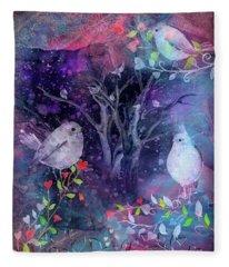 Avian Midnight Fleece Blanket