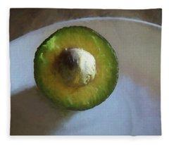 Avocado In Morning Light  Fleece Blanket