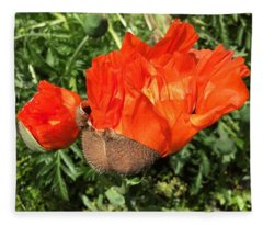 Awakening Poppy Fleece Blanket