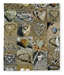 Awesome Hearts Found In Nature - Valentine S Day Fleece Blanket