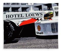 Ayrton Senna - Montecarlo Fleece Blanket