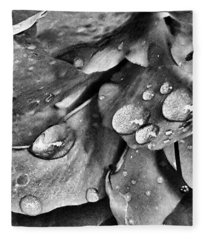 Azalea Rain Drops 4 Fleece Blanket