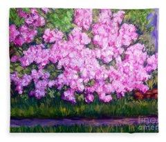 Azalea Spring Fleece Blanket
