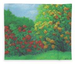 Azaleas In May Fleece Blanket