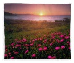 Azkorri In Springtime Fleece Blanket