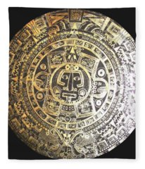 Aztec Calendar Fleece Blanket