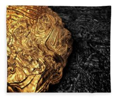 Aztec Gold Fleece Blanket
